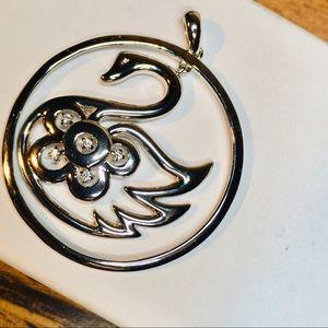Swim Swan Sterling Pendant